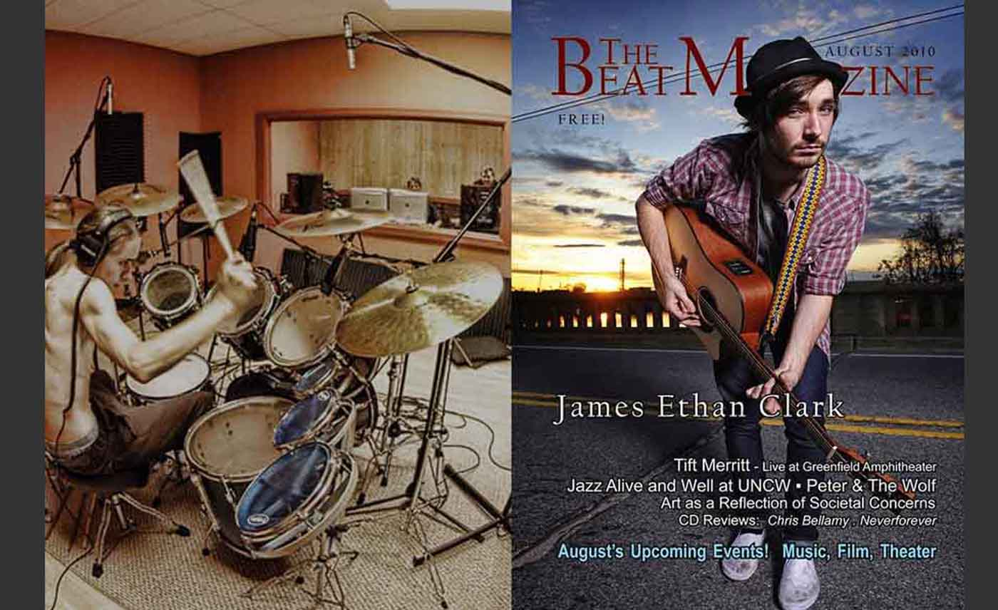 Music, Band promotion,  magazine editorial James Ethan Clark