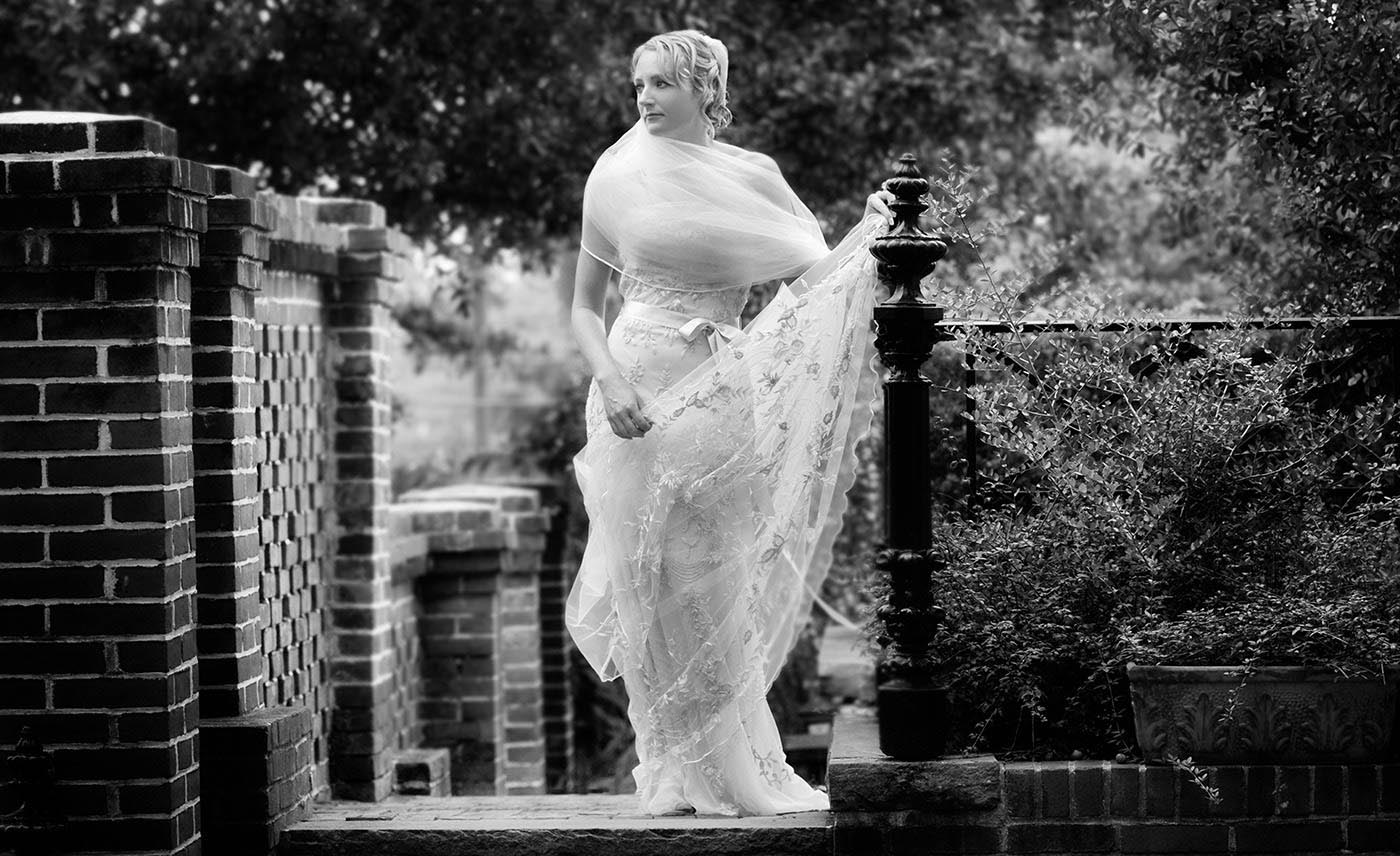 Clasic Bridal Portrait, Tradictional, City Club at de Rosset, black and white