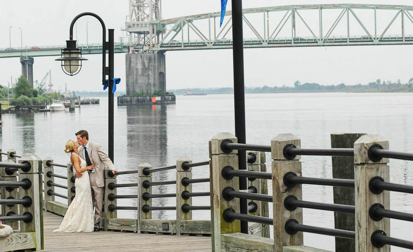 Wilmington Waterfront, Water Street Wedding, The Tea Room, Wilmington memorial Bridge