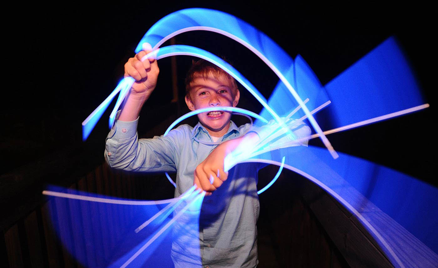 wedding glow sticks, artistic photography