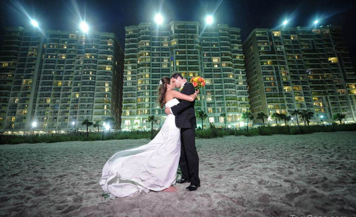 Myrtle Beach Wedding photography, couple, reception, Grande Dunes Resort